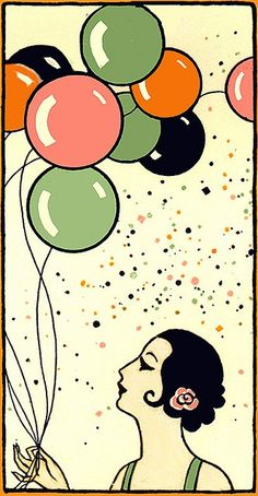 Deco Flapper with Balloons
