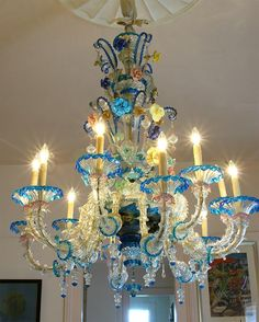 Venetian glass antique chandelier venetian chandeliers and glass venetian chandelier image 2 aloadofball Gallery