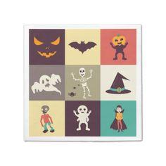 Cute Retro Halloween Party paper napkin