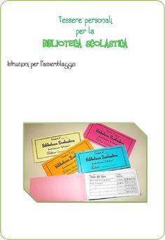 Tessera Personale per la Biblioteca Scolastica