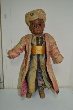 """Кукла антикварная , русская .Дунаевская мануфактрура .С клеймом !!!""""Восточный гость """".Редчайшая!"""