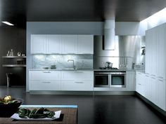 Fitted kitchen with handles QUADRICA by Euromobil