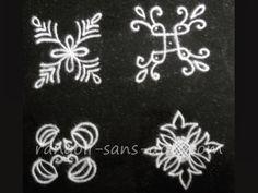 easy  kolam designs Simple Rangoli Designs Images, Rangoli Designs Latest, Rangoli Designs Flower, Rangoli Border Designs, Rangoli Designs With Dots, Flower Rangoli, Beautiful Rangoli Designs, Rangoli Borders, Rangoli Patterns