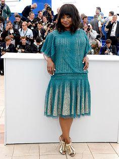 Octavia Spencer went for a flapper-esque look in a Tadashi Shoji dress