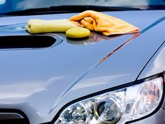 Add 1 cup kerosene to a pail filled with water and then sponge the solution over your car. You won't have to spray the car before washing or rinse or wax it once you're done. And the next time it rains, rainwater will bead up and roll off the car