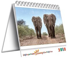 Delightful South African Desk Calendar with a different photograph for each week of the year and plenty of diary space too. Mount Rushmore, Calendar, Elephant, Photograph, Desk, Space, Travel, Photography, Floor Space