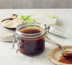 This glossy teriyaki sauce is easy to make and perfect to have in your fridge to add to stir fries, marinades or even as a dipping sauce with Asian crackers Bbc Good Food Recipes, Quick Recipes, Sauce Recipes, Cooking Recipes, Yummy Food, Savoury Recipes, Asian Recipes, Yummy Recipes, A Food
