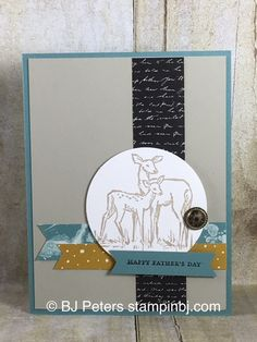 In The Meadow from Stampin' Up! creates a perfect Father's Day card!  This one is easy!