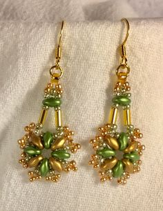 Kathleen's Kreations.  Super duo earrings