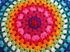 crocheted mandala in old-fashioned granny stitch :)