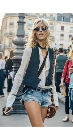 Anja Rubik in Saint Laurent
