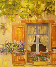#ölmalerei #impressionist #Blumen #Sommer #Malerei #Kunst Create Yourself, Etsy Seller, Creative, Painting, Art, Painted Canvas, Windows, Summer, Flowers
