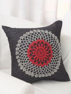 Doily Pillow | Yarn | Free Knitting Patterns | Crochet Patterns | Yarnspirations