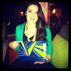 Kree Harrison, frontrunner on #AmericanIdol sporting our Dazzle Clutch in LA this week. She's beautiful inside and out, and now supporting other creative women artisans to get their voices and talents heard. Thanks Kree! You have our vote! #Kree #Top10 #AI13 @Kree Harrison