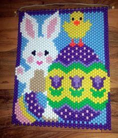 Beaded Easter Bunny Banner