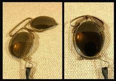 Vintage/ Antique FOLDING PINCE NEZ/ Lorgnettes - SUNGLASSES - Metal Frames | eBay