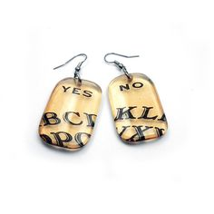 Earrings resin Ouija Earrings vintage feel ouija by BuyMyCrap, $18.00