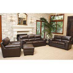 Sophie 4-piece Top Grain Leather Set  sc 1 st  Pinterest : nouveau top grain leather sectional - Sectionals, Sofas & Couches