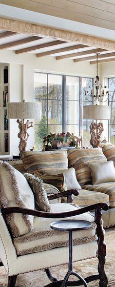 A. Rudin Luxury Furniture featured at/sold through Glen Lusby Interiors. Chicago Merchandise Mart Design Center