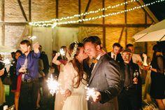 sparkler receptions - photo by Carmen and Ingo Photography http://ruffledblog.com/german-barn-wedding
