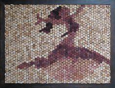 Beautiful wine cork mosaic