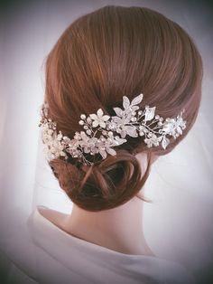 Wedding Hair Vine Silver Bridal Head Piece Gold Bridal Hair