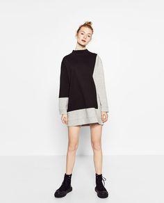 OVERSIZED SWEATSHIRT DRESS-DRESSES-WOMAN | ZARA United States