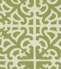 Home Decor Print Fabric-Waverly Parterre Grass $17.50 54'' Wide 90% Cotton / 10% Linen Dry Clean Only Fabric May Crock . Made in USA