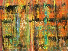 Abstract oil painting - RM 800 - 16 (Painting),  100x80x1.8 cm by Rico Mocellin Die Ölgemälde haben eine abstrakte Stil, viele Farben werden verwendet, um das Ergebnis sind bunte Kunstwerke mit unterschiedlichen Texturen.  Rico Mocellin's Kunstwerke sind das Ergebnis seiner Verrücktheit, in Farben umgewandelt.