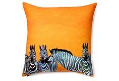 Candy Zebras 20x20 Outdoor Pillow, Multi on OneKingsLane.com