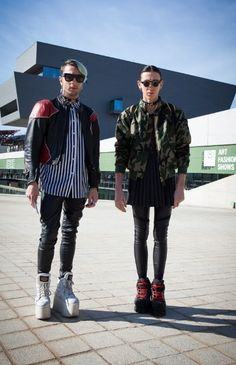 Hey boys! Taking men's street style to the next level, literally... Check out those flatforms #fashion #mens #streetstyle