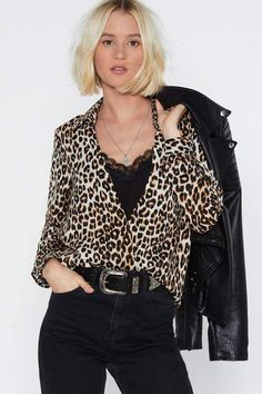 a0ed03243ab Give Me a Meow-ment Leopard Blouse