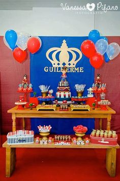 British Toy Soldier Themed Birthday Party Celebration First Parties Themes