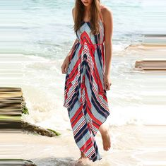 To find out about the Multicolor Stripe Dual Strapes Backless Maxi Dress at SHEIN, part of our latest Dresses ready to shop online today! Backless Maxi Dresses, Striped Maxi Dresses, Sleeveless Outfit, Bandage Dresses, Vacation Dresses, Summer Dresses, Beach Dresses, Long Dresses, Gypsy Dresses