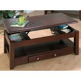 Lift-top coffee table...size looks do-able. Nice storage underneath too!