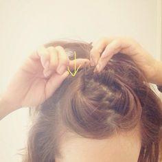 ☆大人の簡単ゆるおだんご、作り方!☆ | 田中亜希子オフィシャルブログ Powered by Ameba Eyeliner Tape, Hair Arrange, Hair Designs, Bobby Pins, Hair Beauty, Pearl Earrings, Hair Accessories, Make Up, Womens Fashion