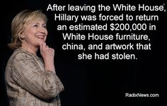 Viral image claims Clintons stole $200k in furniture, china and artwork from White House | PunditFact