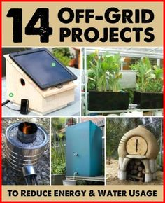14 Off-Grid Projects To Reduce Your Energy & Water Usage - Homestead & Survival Homestead Survival, Survival Prepping, Emergency Preparedness, Survival Skills, Survival Shelter, Off Grid Survival, Doomsday Survival, Doomsday Preppers, Emergency Water