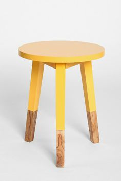 I like this idea for DIY…might sand and repaint/finish my little stool :)
