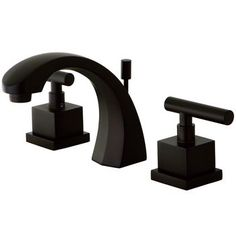 """Kingston Brass Claremont Two Handle 8"""""""""""""""" to 16"""""""""""""""" Widespread Lavatory Faucet with Brass Pop-up - Oil Rubbed Bronze"""