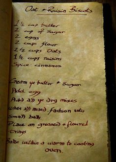 Oat and Raisin Biscots, Tudor Recipe