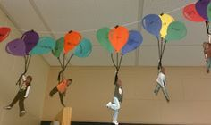 """They wrote their hopes and dreams in balloons and attached a picture of themselves soaring with them. Make """"Oh the Places You Go"""" Bulletin Board!"""