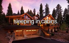 why I have decided that my ultimate vacation home is a cabin in the mountains