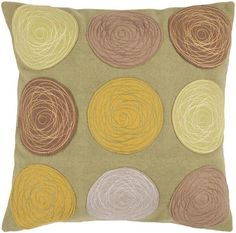 Bright Yellow Beige Fabric Poly Fill Square Pillow Kit (L 22 X W 22)