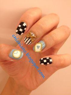 Disney Nail Art: Alice in Wonderland | chichicho~ nail art addicts