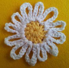 Knitted Flower Patterns Free 10 Best Photos Of Knitted Flower Dishcloth Pattern Free Knit. Knitted Flower Patterns Free How To Knit A Poppy Flower Kni. Crochet Bunting Free Pattern, Knitted Flower Pattern, Knitted Flowers, Daisy Pattern, Crochet Blanket Patterns, Circle Pattern, Crochet Daisy, Crochet Quilt, Crochet Motif