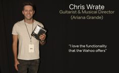 Chris Wrate Guitarist with Ariana Grande http://www.ArianaGrande.com