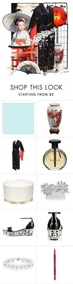 """""""Memoirs of a Geisha"""" by pusja76 ❤ liked on Polyvore featuring CHI, NIU', Volnay, Paul & Joe, Crystal Allure, Christian Louboutin, Mikimoto, Allurez and Too Faced Cosmetics"""