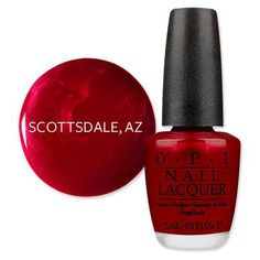 Scottsdale - America's Most Wanted Nail Colors - OPI An Affair In Red Square