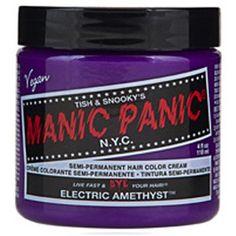 Manic Panic Semi Permanent Hair Color Cream - Electric Amethyst 4 oz.